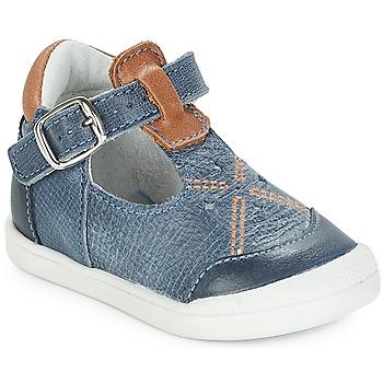 Chaussures Fille Ballerines / babies André POCHOIR Bleu