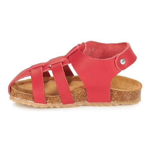 André Aviron Rouge - Livraison Gratuite- Chaussures Sandale Enfant 3119