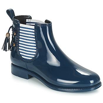 Chaussures Femme Bottes de pluie André BLEUENN Marine