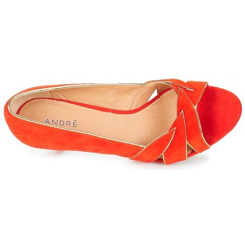 Rouge Chaussures Escarpins Femme Banjo André QoxhCrtsdB