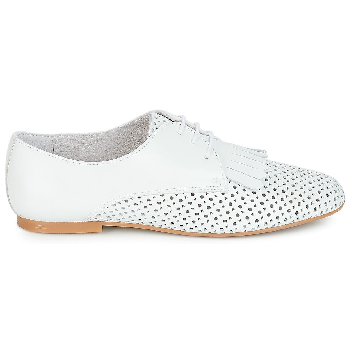 André Delicat Blanc - Livraison Gratuite Chaussures Derbies Femme 63,20 €