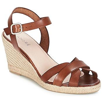 Chaussures Femme Sandales et Nu-pieds André QUIBERON Marron