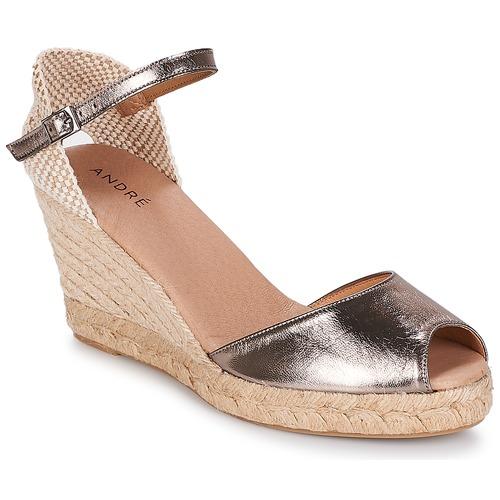 Chaussures Femme Espadrilles André CADIX Doré