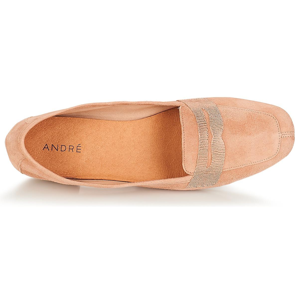 André Namours Rose - Livraison Gratuite Chaussures Mocassins Femme 63,20 €