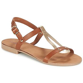 Chaussures Femme Sandales et Nu-pieds André TOUFOU Camel