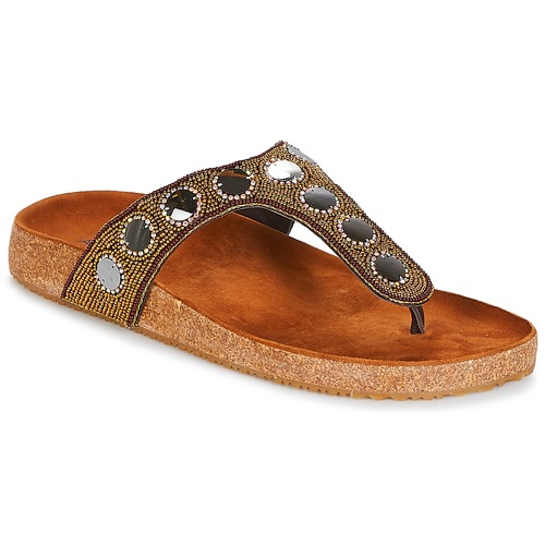 Chaussures Femme Tongs André PANDORE Marron