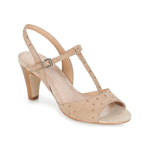 Femme Beige pieds Et Nu Sandales Chaussures André Bety rxdoCBeW