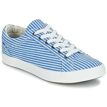 Chaussures Femme Baskets basses André SESAME Raye bleu