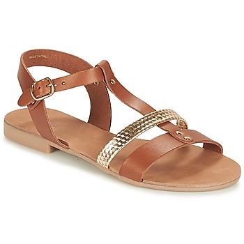 905ed33d24c2d Chaussures Femme Sandales et Nu-pieds André CAYO COCOS Camel