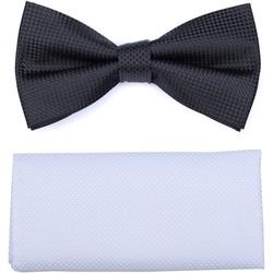 Vêtements Homme Cravates et accessoires Virtuose Papillon Pique + Pochette Noir