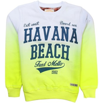 Vêtements Garçon Sweats Fred Mello - Sweat Havana Beach garçon - jaune Blanc