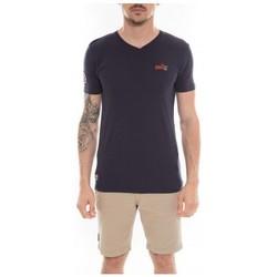 Vêtements Homme T-shirts manches courtes Ritchie T-shirt col V en coton MAPUTO Bleu marine