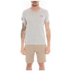 Vêtements Homme T-shirts manches courtes Ritchie T-shirt col V en coton MAPUTO Gris