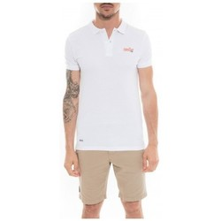 Vêtements Homme Polos manches courtes Ritchie Polo en coton POPPLES Blanc