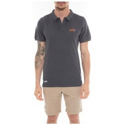 Vêtements Homme Polos manches courtes Ritchie Polo en coton POPPLES Gris