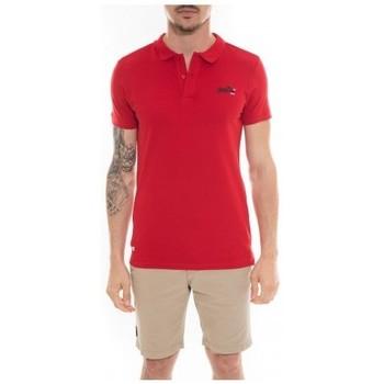 Vêtements Homme Polos manches courtes Ritchie Polo en coton POPPLES Rouge