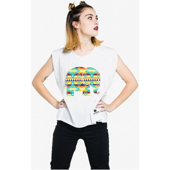 Vêtements Femme T-shirts manches courtes Trendsplant Camiseta Mujer Navajo BLANCO