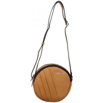 Sacs Femme Sacs Bandoulière Patrick Blanc Petit sac rond bandoulière cuir  marron camel Camel
