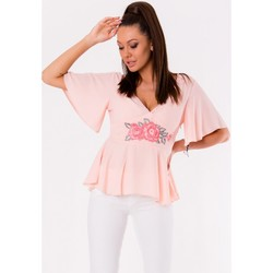 Vêtements Femme Tops / Blouses Yournewstyle Chemisier model 115805 rosé