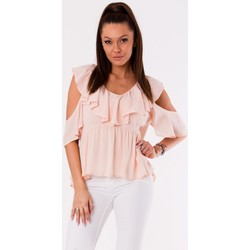 Vêtements Femme Tops / Blouses Yournewstyle Chemisier model 115831 rosé