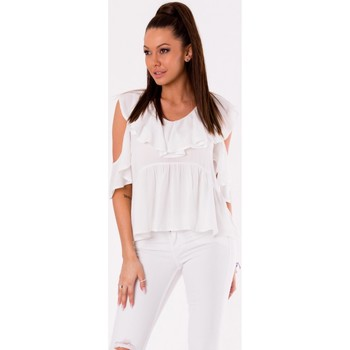 Vêtements Femme Tops / Blouses Yournewstyle Chemisier model 115829 blanc