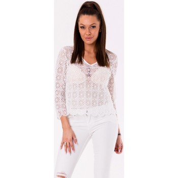 Vêtements Femme Tops / Blouses Yournewstyle Chemisier model 115815 blanc