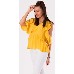 Vêtements Femme Tops / Blouses Yournewstyle Chemisier model 115828 jaune