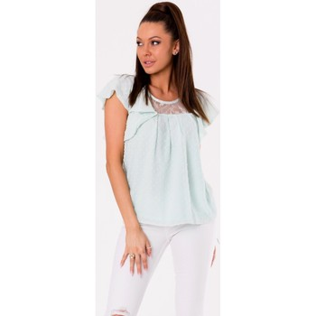 Vêtements Femme Tops / Blouses Yournewstyle Chemisier model 115838 bleu