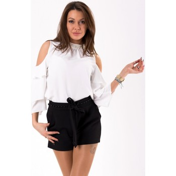 Vêtements Femme Tops / Blouses Yournewstyle Chemisier model 115846 blanc