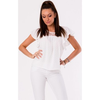 Vêtements Femme Tops / Blouses Yournewstyle Chemisier model 115835 blanc