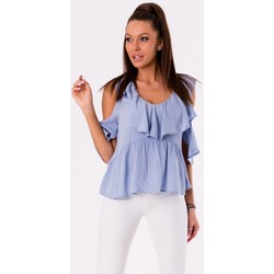 Vêtements Femme Tops / Blouses Yournewstyle Chemisier model 115833 bleu
