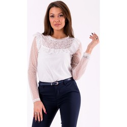 Vêtements Femme Tops / Blouses Yournewstyle Chemisier model 115855 blanc