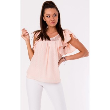 Vêtements Femme Tops / Blouses Yournewstyle Chemisier model 115837 rosé