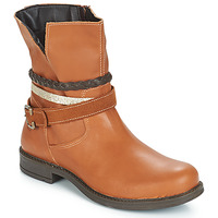 Chaussures Fille Boots Citrouille et Compagnie JACKEE Camel