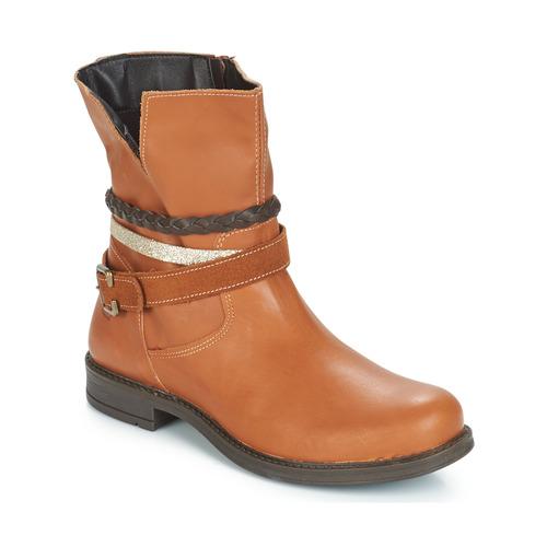 Chaussures Fille Boots Citrouille et Compagnie FURAMO Camel