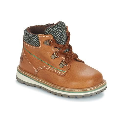 Chaussures Garçon Boots Citrouille et Compagnie HOURA Marron
