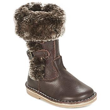Chaussures Fille Bottes ville Citrouille et Compagnie HOSY Marron