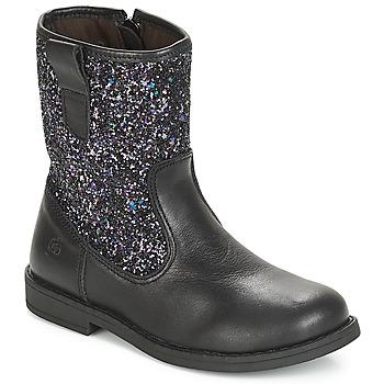 Chaussures Fille Bottes ville Citrouille et Compagnie JUCKER Noir