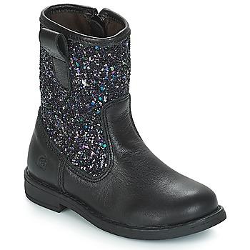 Chaussures Fille Bottes ville Citrouille et Compagnie JUCKER Noir / Paillettes