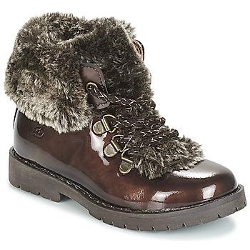 Chaussures Fille Boots Citrouille et Compagnie JITTER Marron