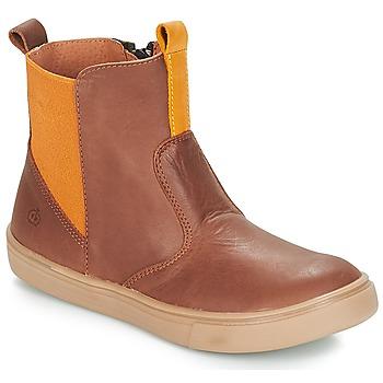 Chaussures Garçon Boots Citrouille et Compagnie JRYNE Camel / Jaune