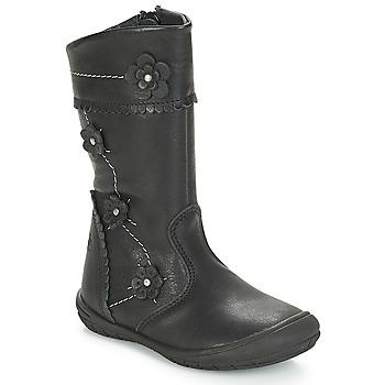 Chaussures Fille Bottes ville Citrouille et Compagnie JAMATIS Noir