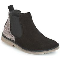 Chaussures Fille Boots Citrouille et Compagnie JIGOULI Noir / Glitter