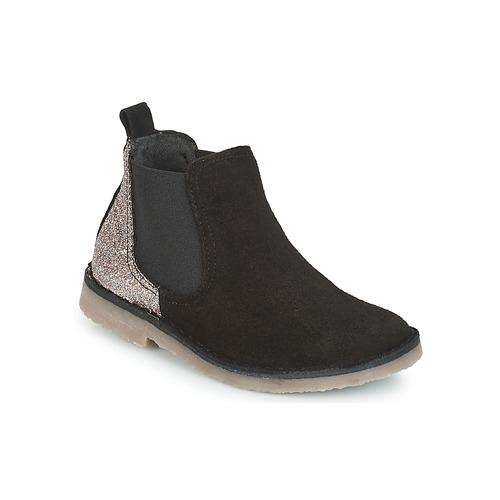 Chaussures Fille Boots Citrouille et Compagnie FIGOULI Noir / Glitter