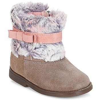 Chaussures Fille Boots Citrouille et Compagnie JERRADJE Gris / Rose