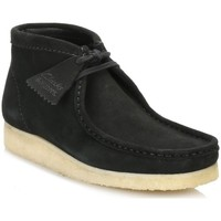 Chaussures Homme Boots Clarks Wallabee Noir