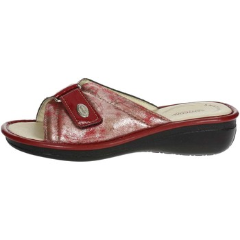 Chaussures Femme Mules Sanycom 1025 Mules Femme Rouge/Blanc Rouge/Blanc