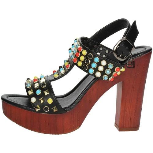 Laura Biagiotti 1010-X3 Sandale Femme Noir Noir - Chaussures Sandale Femme