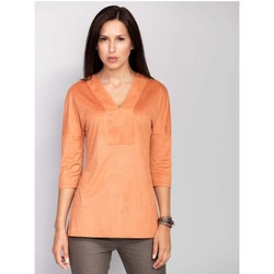 Vêtements Femme Chemises / Chemisiers Mira Mod Chemisier model 74345 orange