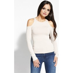 Vêtements Femme Tops / Blouses Dursi Chemisier model 68160 beige